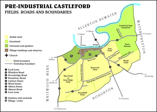 Castleford boundary and fields